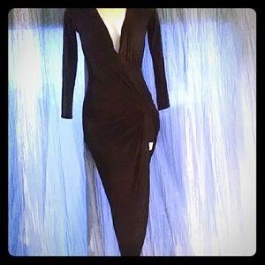 Deep Vneck Black Poetry n.y Dress